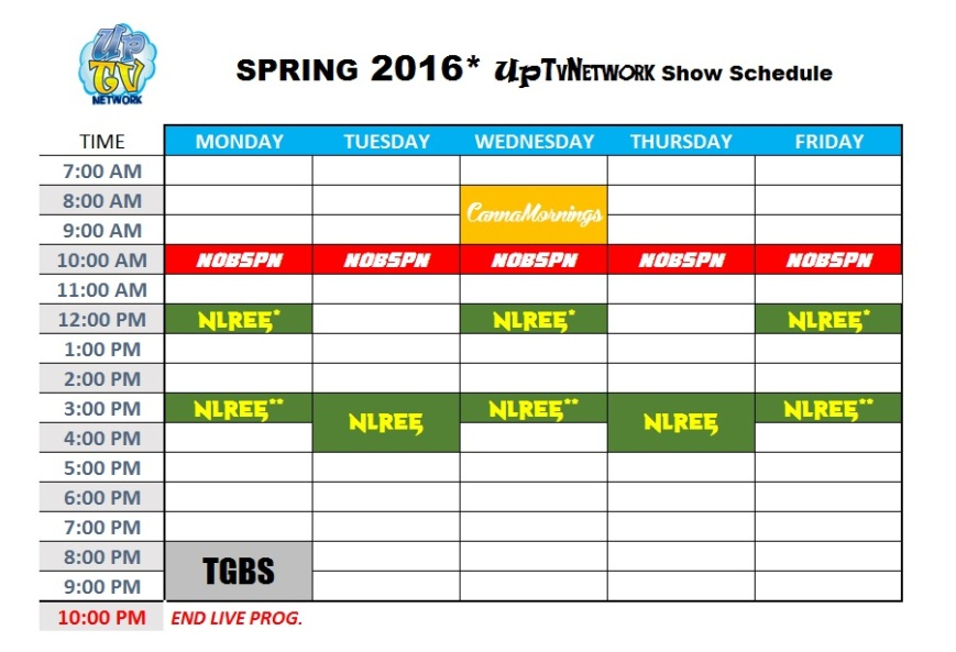SP 2016UpTvNetwork Schedule